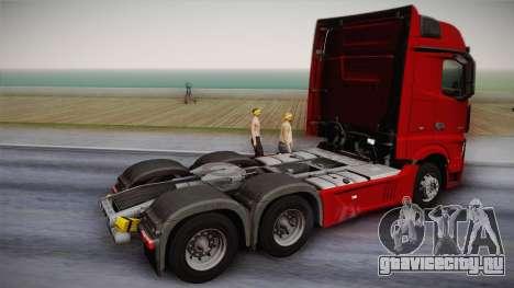 Mercedes-Benz Actros Mp4 6x4 v2.0 Bigspace v2 для GTA San Andreas вид слева