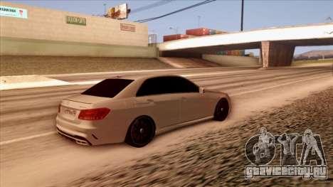 Mercedes-Benz Е63 для GTA San Andreas вид сзади слева