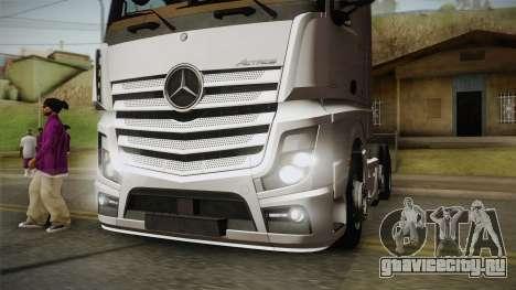 Mercedes-Benz Actros Mp4 6x2 v2.0 Bigspace v2 для GTA San Andreas вид сзади