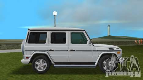 Mercedes-Benz G500 W463 2008 для GTA Vice City вид сзади