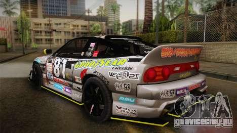 D1GP Nissan 180SX BWest Origin Labo для GTA San Andreas вид слева