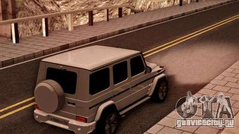 Mercedes-Benz G65 для GTA San Andreas вид сзади слева