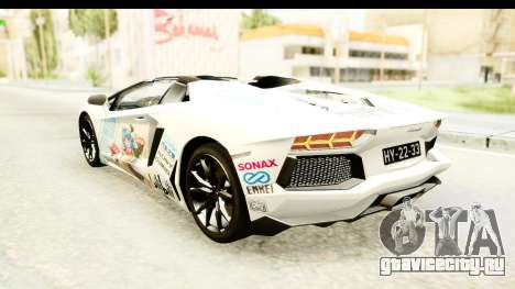 Lamborghini Aventador LP700-4 Roadster v2 для GTA San Andreas колёса