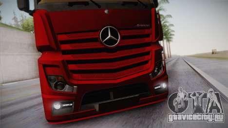 Mercedes-Benz Actros Mp4 6x4 v2.0 Bigspace v2 для GTA San Andreas вид изнутри