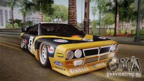 Lancia Rally 037 Stradale (SE037) 1982 IVF Dirt2 для GTA San Andreas вид сзади слева