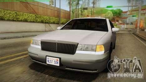Willard Elegant IVF для GTA San Andreas вид сзади