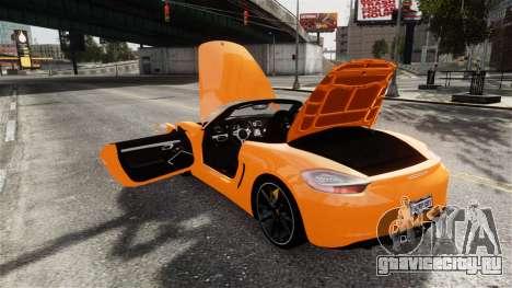 Porsche Boxster GTS 2014 для GTA 4 вид сбоку