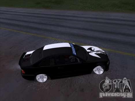 BMW E46 Good and Evil для GTA San Andreas вид изнутри