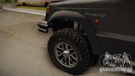 Mitsubishi Pajero 3-Door Off-Road для GTA San Andreas вид сзади слева
