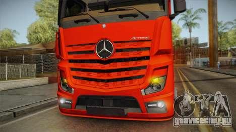 Mercedes-Benz Actros Mp4 6x2 v2.0 Steamspace v2 для GTA San Andreas вид изнутри