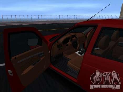 VAZ 2170 STANCE для GTA San Andreas вид сверху