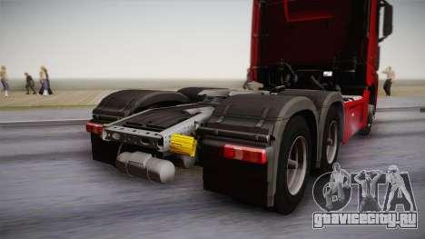Mercedes-Benz Actros Mp4 6x4 v2.0 Bigspace v2 для GTA San Andreas вид справа