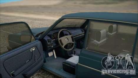 Mercedes-Benz 240D для GTA San Andreas вид сзади слева
