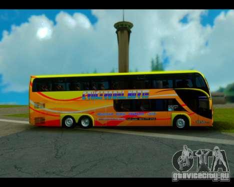Metalsur Starbus II CRUCERO DEL NORTE для GTA San Andreas вид сзади слева