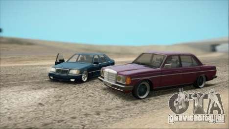 Mercedes-Benz 240D для GTA San Andreas вид сзади