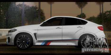 BMW X6M F86 M Performance для GTA San Andreas вид сзади слева