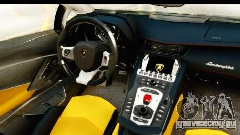 Lamborghini Aventador LP700-4 Roadster v2 для GTA San Andreas вид изнутри