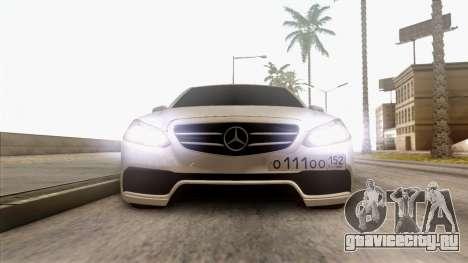 Mercedes-Benz E63 v.2 для GTA San Andreas вид сбоку