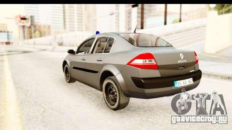 Renault Megane 2 Sedan Unmarked Police Car для GTA San Andreas вид слева