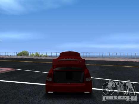 VAZ 2170 STANCE для GTA San Andreas вид сзади