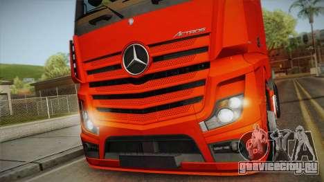 Mercedes-Benz Actros Mp4 6x2 v2.0 Steamspace v2 для GTA San Andreas вид сзади слева