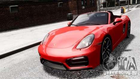 Porsche Boxster GTS 2014 для GTA 4 вид сзади слева