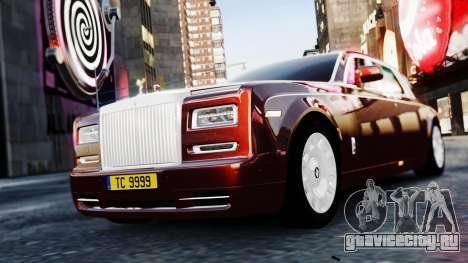 Rolls-Royce Phantom EWB 2013 для GTA 4 вид сзади слева