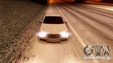 Mercedes-Benz Е63 для GTA San Andreas вид изнутри