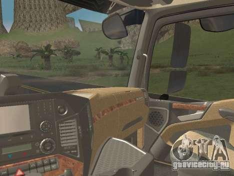 Mercedes-Benz Actros Mp4 4x2 v2.0 Bigspace v2 для GTA San Andreas вид сбоку