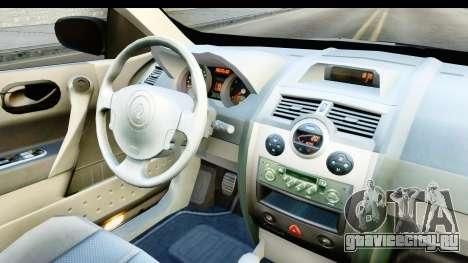 Renault Megane 2 Sedan 2003 v2 для GTA San Andreas вид изнутри