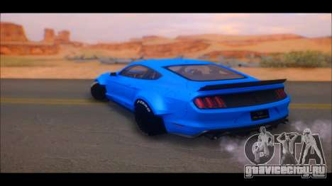 Ford Mustang 2015 Liberty Walk LP Performance для GTA San Andreas вид сзади слева