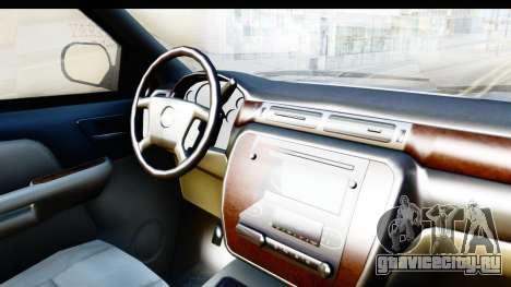 Chevrolet Silverado 2011 для GTA San Andreas вид изнутри