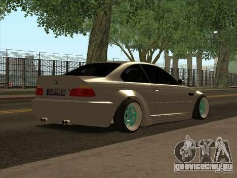 BMW E46 для GTA San Andreas вид сзади слева