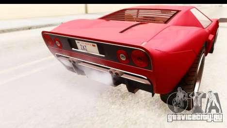 GTA 4 TboGT Bullet для GTA San Andreas вид изнутри