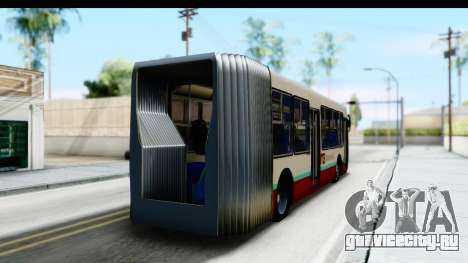 Metrobus de la Ciudad de Mexico для GTA San Andreas вид слева