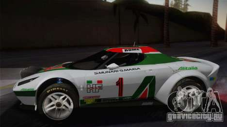 Lancia Stratos для GTA San Andreas вид сзади слева