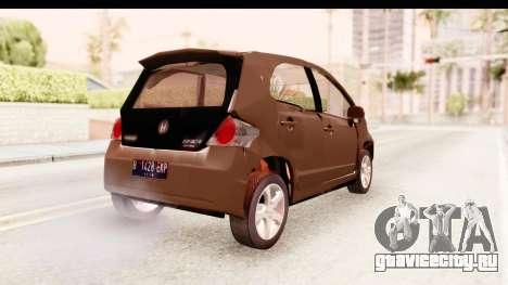 Honda Brio для GTA San Andreas вид сзади слева