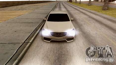 Mercedes-Benz E63 v.2 для GTA San Andreas вид изнутри