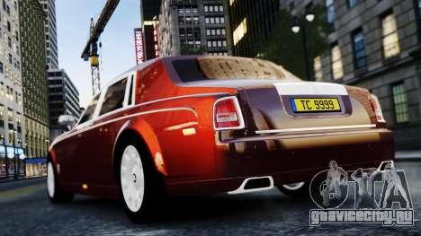 Rolls-Royce Phantom EWB 2013 для GTA 4 вид справа