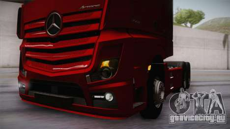 Mercedes-Benz Actros Mp4 6x4 v2.0 Bigspace v2 для GTA San Andreas вид сбоку
