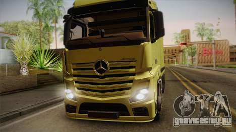 Mercedes-Benz Actros Mp4 v2.0 Tandem Big для GTA San Andreas вид сзади слева