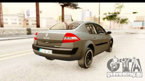 Renault Megane 2 Sedan Unmarked Police Car для GTA San Andreas вид справа
