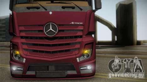 Mercedes-Benz Actros Mp4 4x2 v2.0 Bigspace v2 для GTA San Andreas вид справа