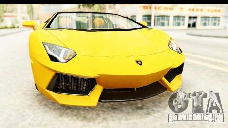 Lamborghini Aventador LP700-4 Roadster v2 для GTA San Andreas вид сверху