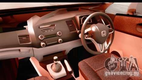 Honda Brio для GTA San Andreas вид изнутри