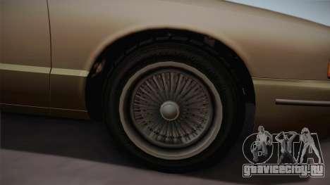 Declasse Premier 1992 SA Style для GTA San Andreas вид сзади