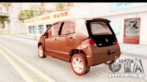 Honda Brio для GTA San Andreas вид слева