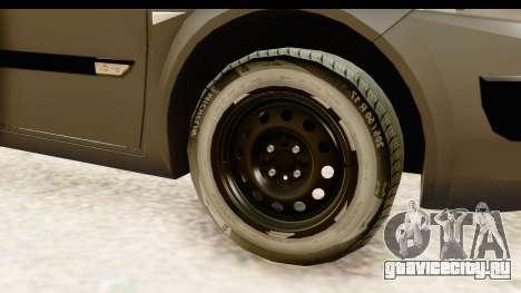 Renault Megane 2 Sedan Unmarked Police Car для GTA San Andreas вид сзади