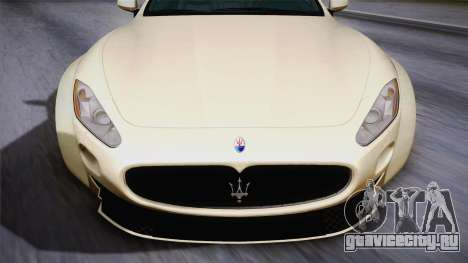 Maserati Gran Turismo Rocket Bunny для GTA San Andreas вид сзади слева