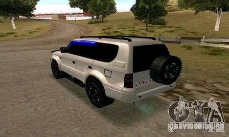 Toyota Land Cruiser 95 для GTA San Andreas вид слева